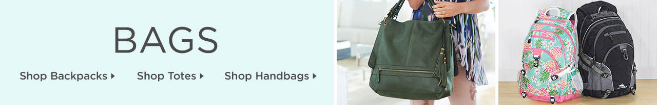 Shop Backpacks, Handbags and Totes