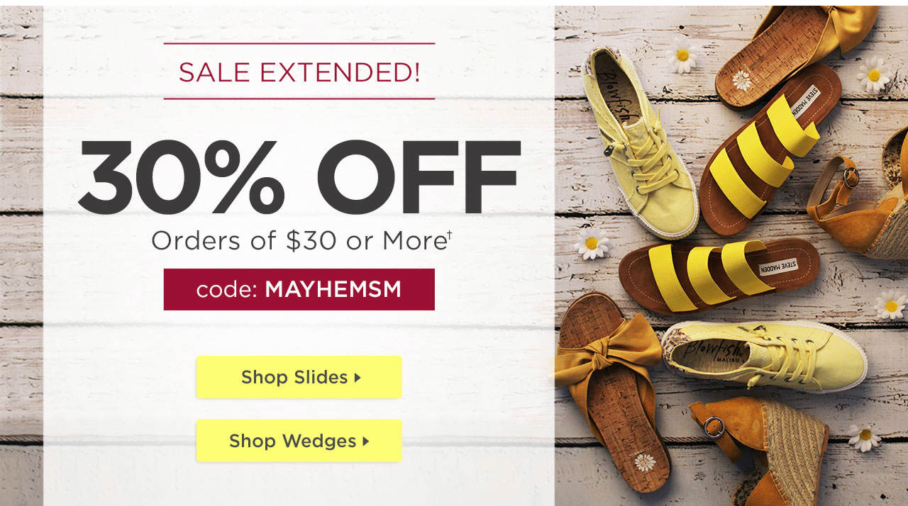 Sale Extended - Shop Now