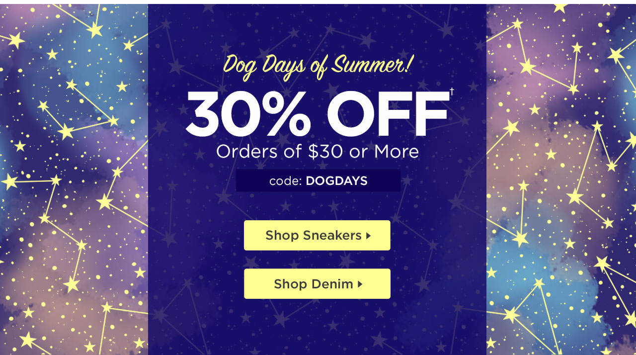 30% Off $30+ with code: DOGDAYS