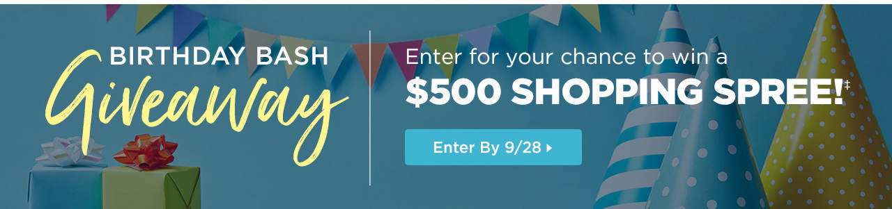 Enter the Birthday Bash Giveaway giveaway by 9/28