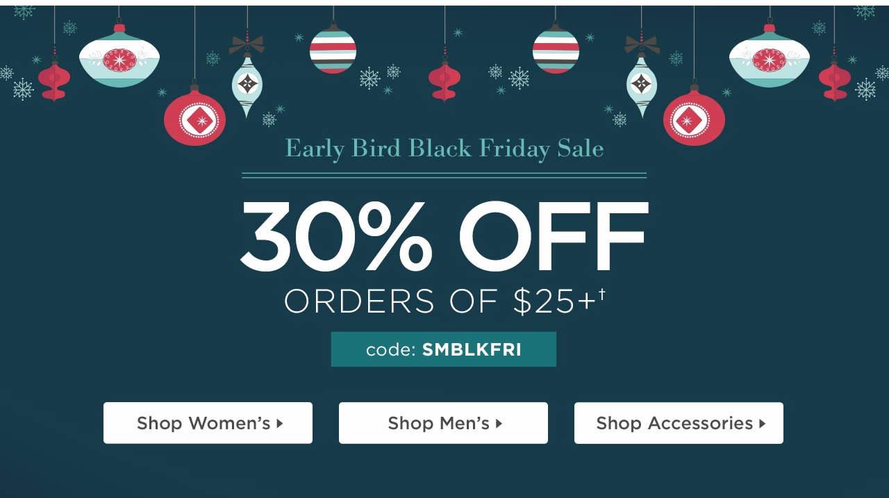 Early Bird Black Friday