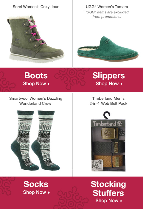 Shop Slippers, Boots, Stocking Stuffers and Socks