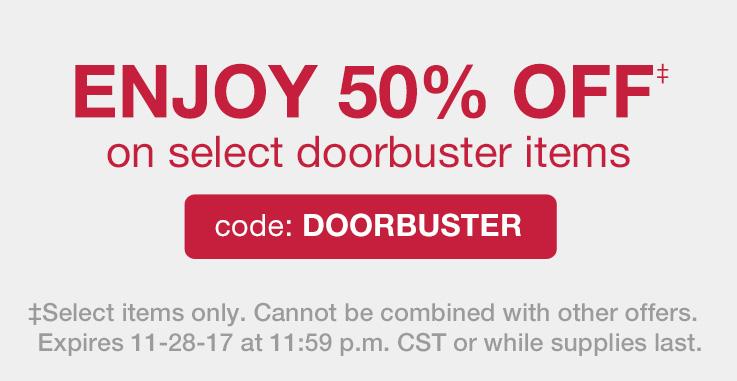 50% Off Doorbusters! Shop Now