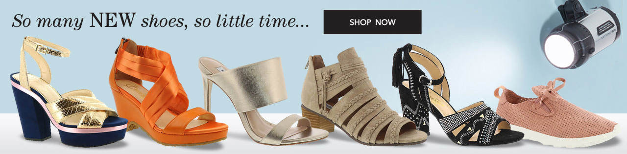 So many shoes, so little time. Shop now.