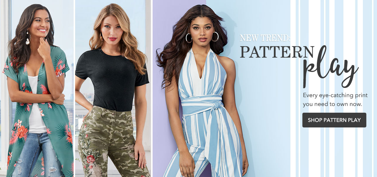 New trend: pattern play. Every eye-catching print you need to own. Shop Now