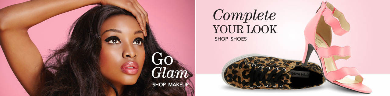 Go glam with makeup, and complete your look with the most fashionable shoes.