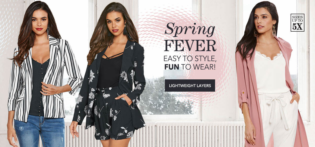 Find easy to style, fun to wear spring fever busters. Shop Lightweight Layers now.