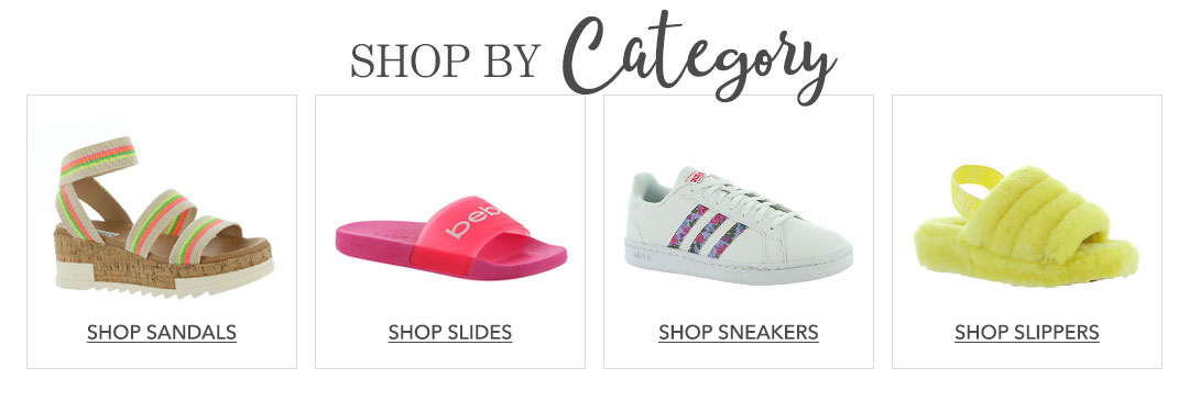 Shop sandals, slides, sneakers, and slippers.