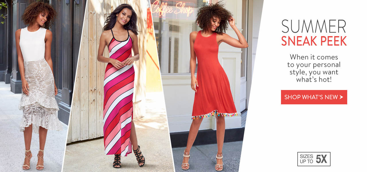 Take a sneak peek at summer styles you want now. Shop what's new.