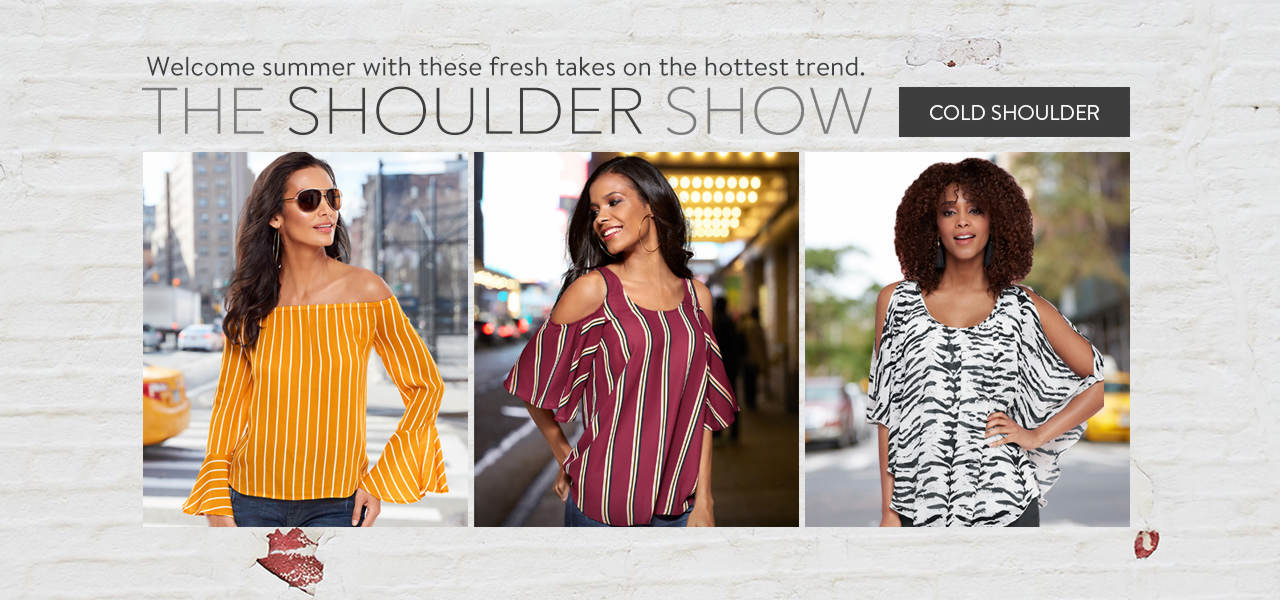 Welcome summer with a fresh take on the hottest trend. Shop Cold Shoulder styles now.