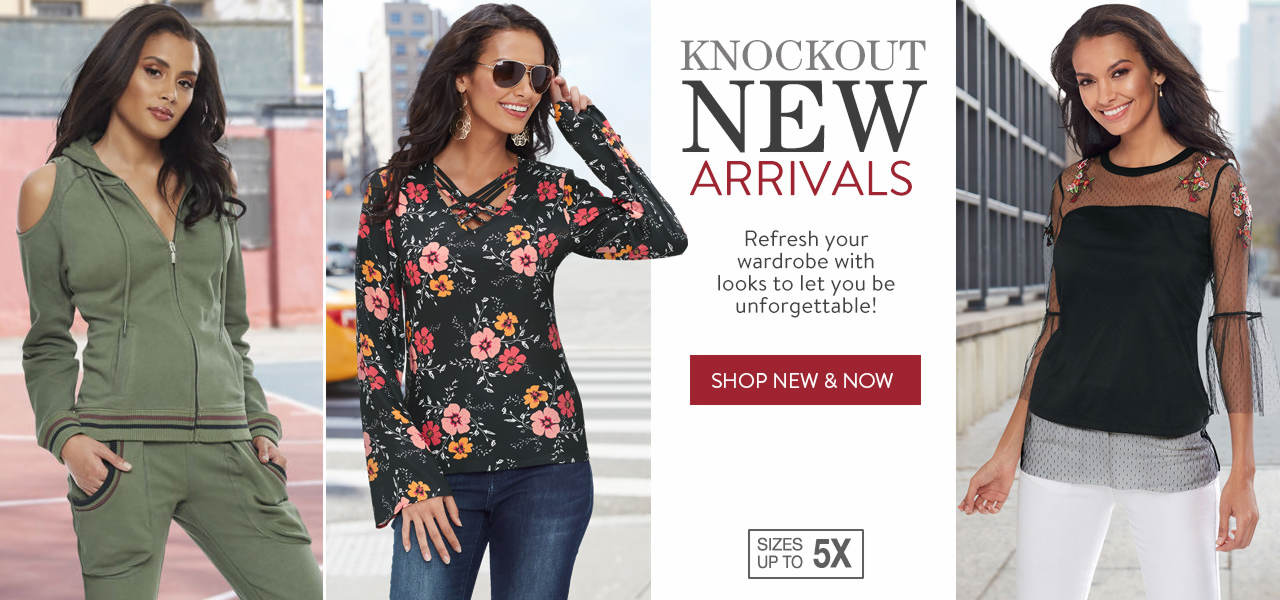 Refresh your wardrobe with these knockout new arrivals. Shop the new and now.