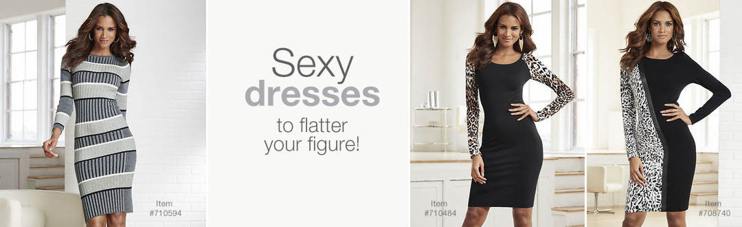 Sexy dresses to flatter your figure.