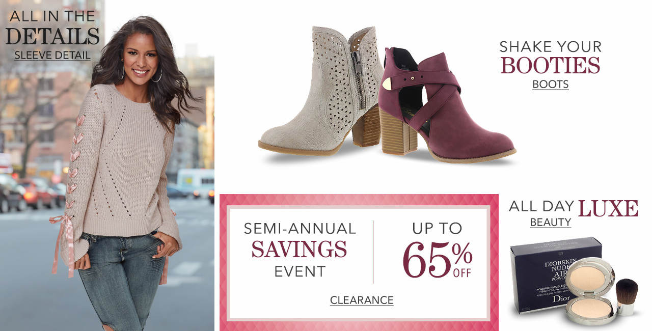 Shop the sleeve detail trend, boots, beauty items and new markdowns.