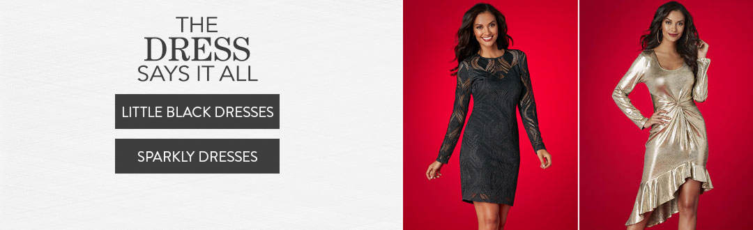 The dress says it all. Shop now.