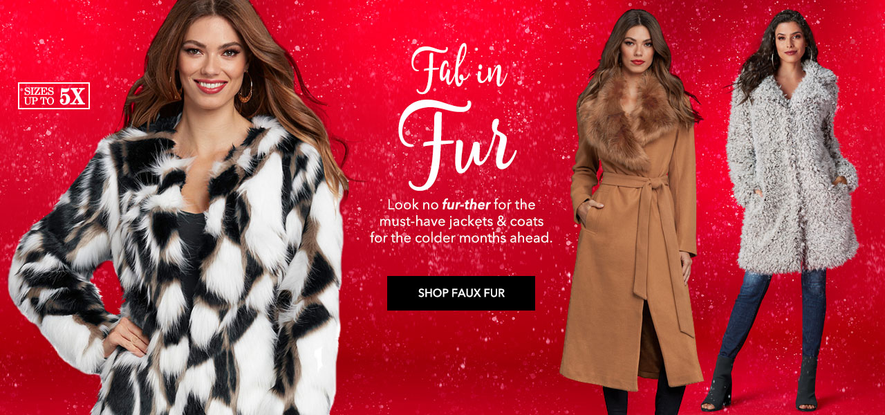 Look no fur-ther for the must-have jackets & coats for the colder months ahead. Shop Faux Fur Now.