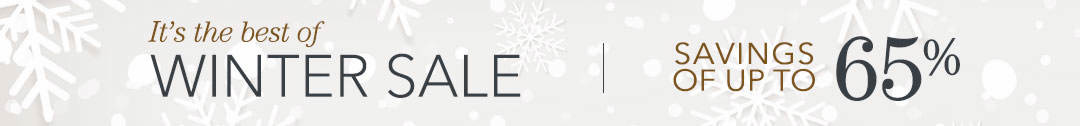 Shop the best of winter sale and save up to 65%!