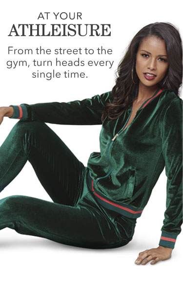 At Your Athleisure. From the street to the gym, turn heads every single time. Shop Athleisure.