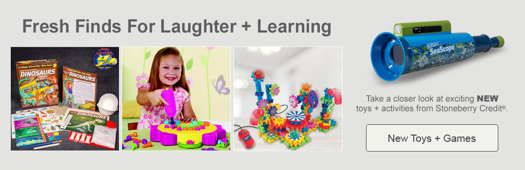 Take a closer look at exciting new toys and activities from Stoneberry Credit. Shop now.