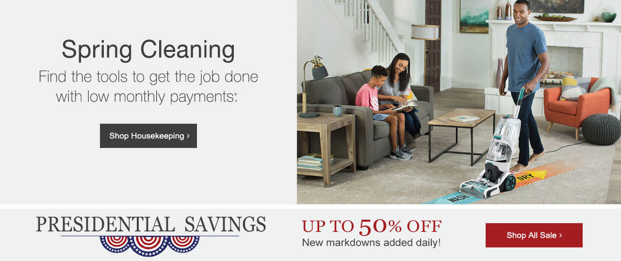 Find tools to get your spring cleaning done quickly and easily. Shop Spring Cleaning now. find presidental savings of up to 50% on our sale tab.