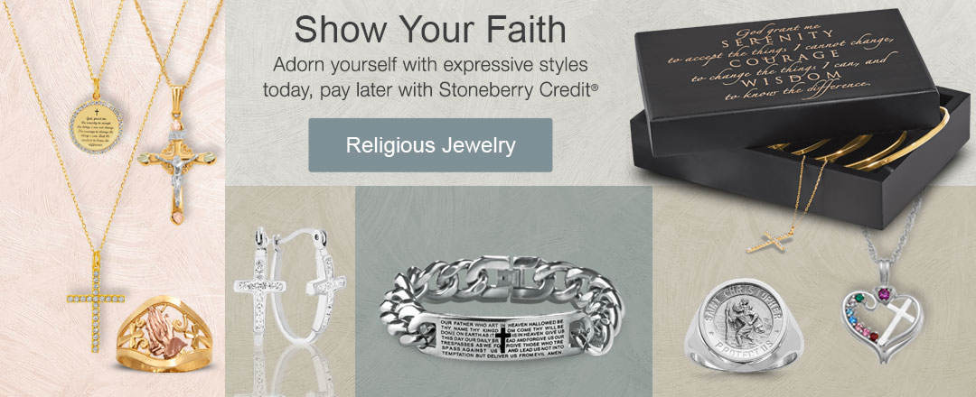 Shop your faith from our selection of personalized and religious jewelry.