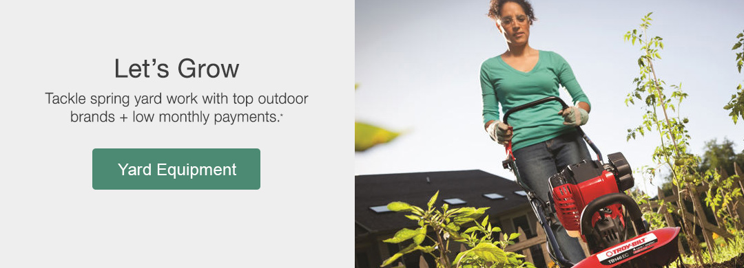Tackle spring yard work with top outdoor brands + low monthly payments. Shop yard equipment now.