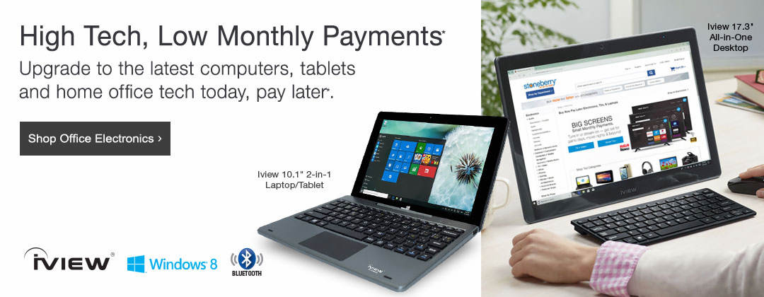 Upgrade to the latest computers, tablets and home office tech  today, pay later*.