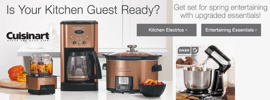 Get set for spring entertaining with upgraded kitchen electrics and more.