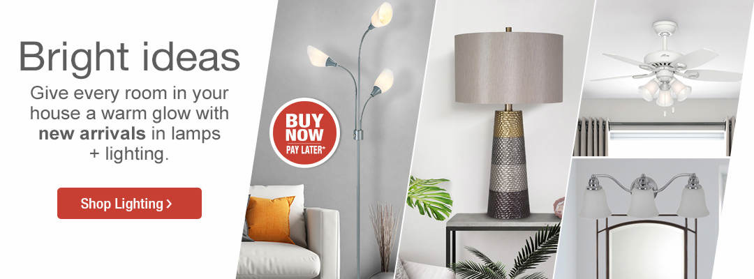 Bright ideas in lamps and lighting. Shop now.
