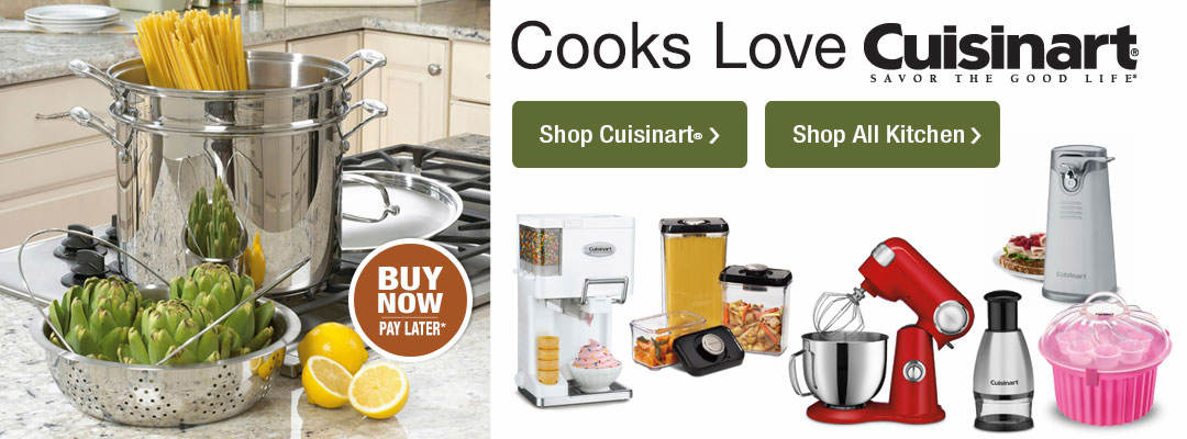 Cooks love Cuisinart, and all our great kitchen products. Shop now.