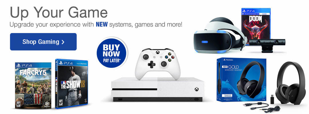Up your game with new gaming systems, games and more! Shop Now!
