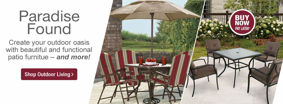 Paradise Found. Create your outdoor oasis with beautiful and functional patio furniture, and more. Shop Outdoor Living now.