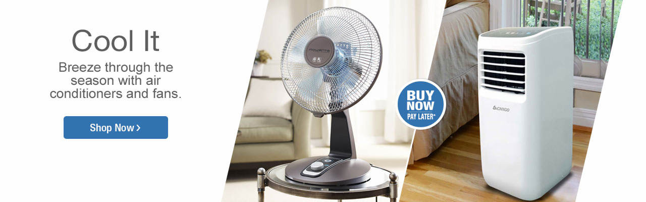 Cool it with air conditioners and fans. Shop now.