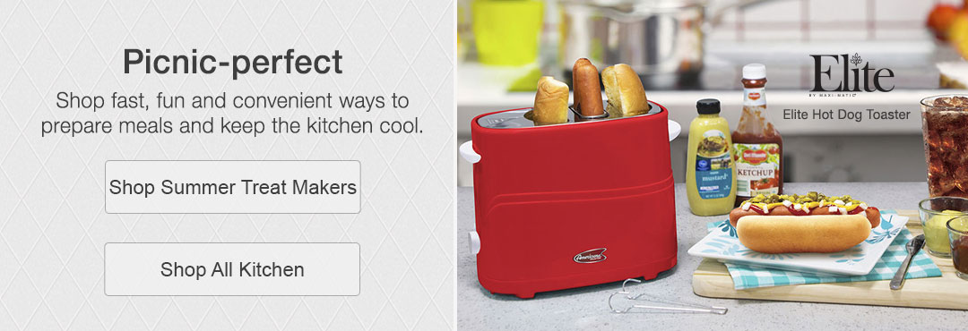 Shop fast, fun and convenient ways to prepare meals and keep the kitchen cool. Shop summer treat makers and all kitchen.