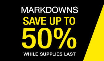 Save up to 50% on new markdowns