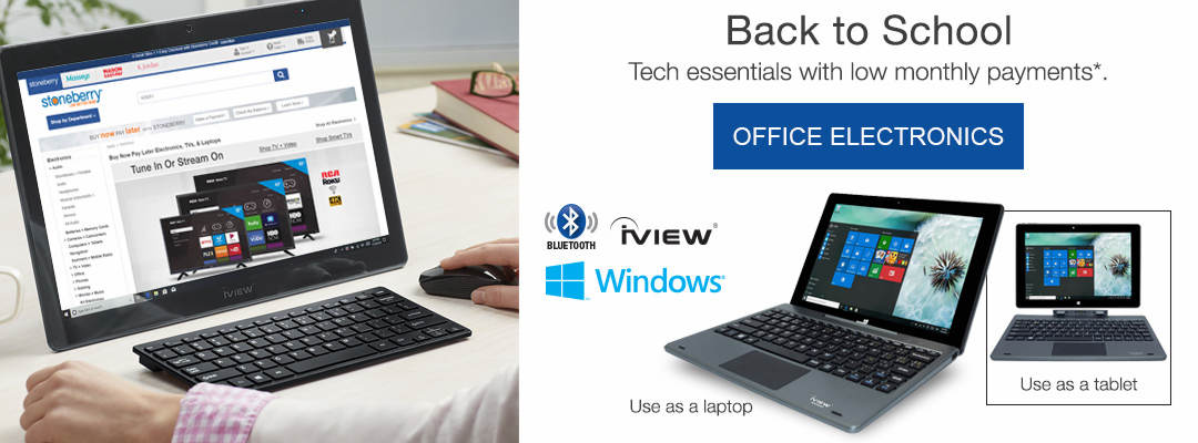 Back to school tech essentials with low monthly payments. Shop Office Electronics Now.