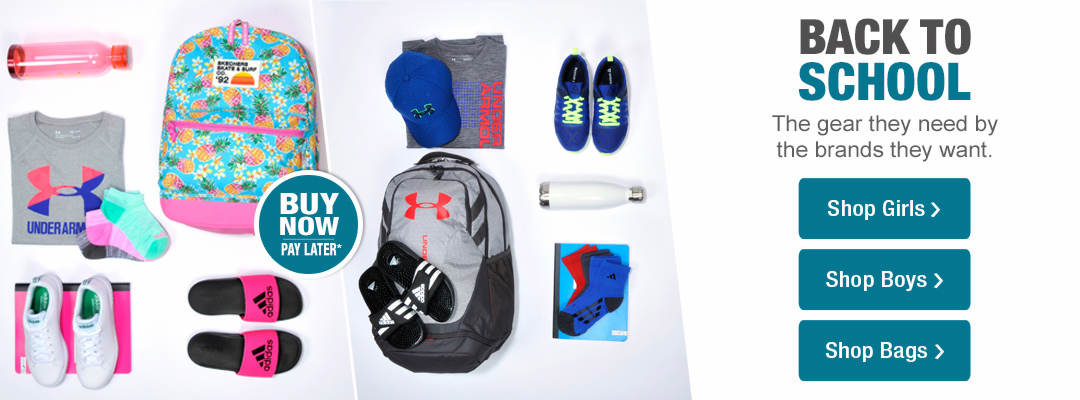 The gear they need by the brands they want. Shop Back to School now.