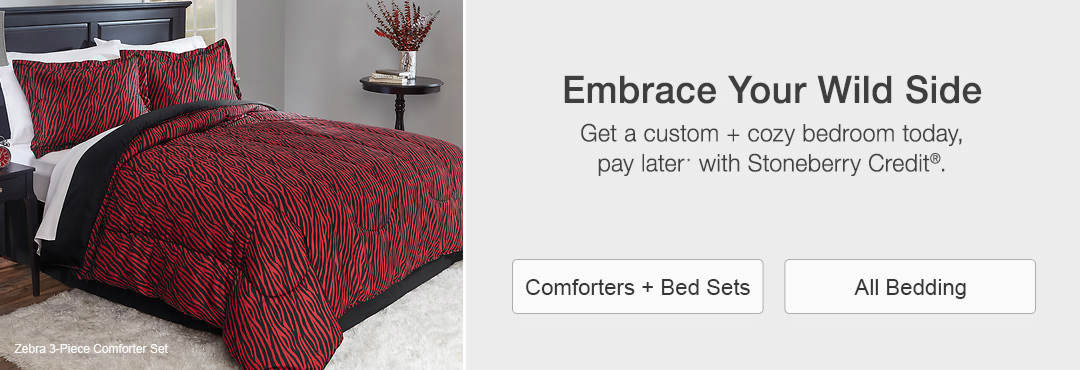 Get a custom and cozy bedroom today, pay later with Stoneberry Credit.