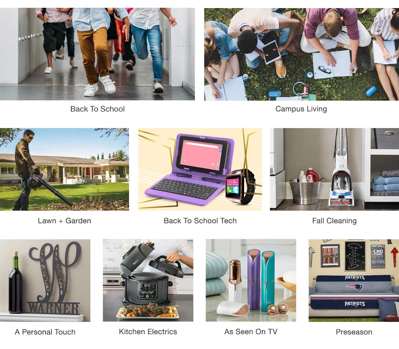 Shop Back to School and everything you need for campus living. Get tools for the perfect lawn and garden, as well as housekeeping and organization for the home. find personalized items, kitchen electrics, as seen on TV and NFL items today, pay later with Stoneberry Credit.
