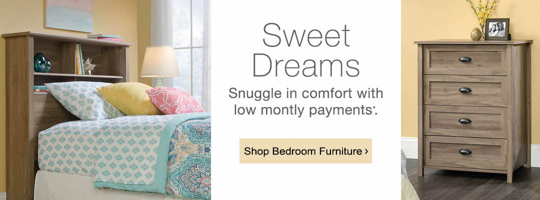 Snuggle in comfort with low monthly payments. Shop bedroom furniture now.