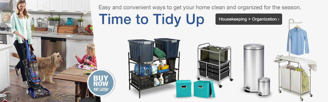 Time to tidy up with easy and convenient ways to get your home clean and organized. Shop now.
