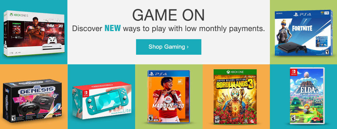Discover NEW ways to play with low monthly payments. Shop games and gaming now.