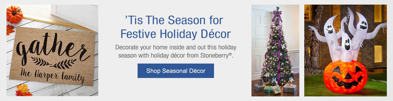 Tis the Season for Festive Holiday Decor - Decorate your home inside and out this holiday season with holiday decor from Stoneberry! Shop Now