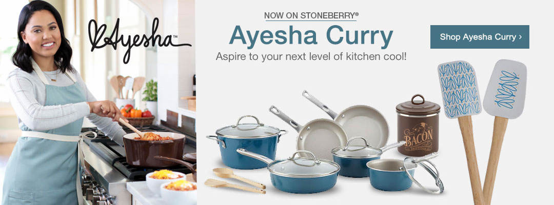 Now on Stoneberry, Ayesha Curry kitchen tools and cookware. Shop now.
