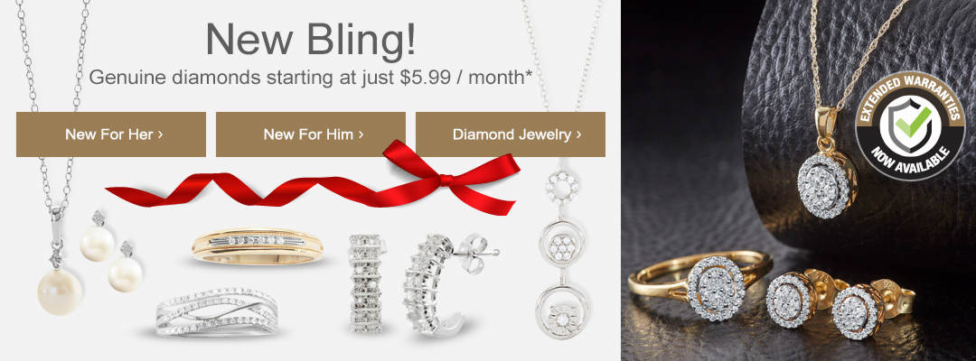 New bling for men and women, including genuine diamonds starting at just $5.99 per month. Shop now.