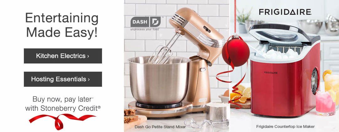Entertaining Made Easy with kitchen electrics and hosting essentials from Stoneberry Credit.