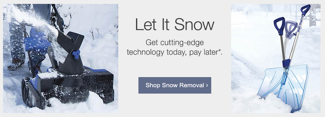 Get cutting-edge technology for making yard care a breeze, pay later with Stoneberry Credit. Shop snow removal now.