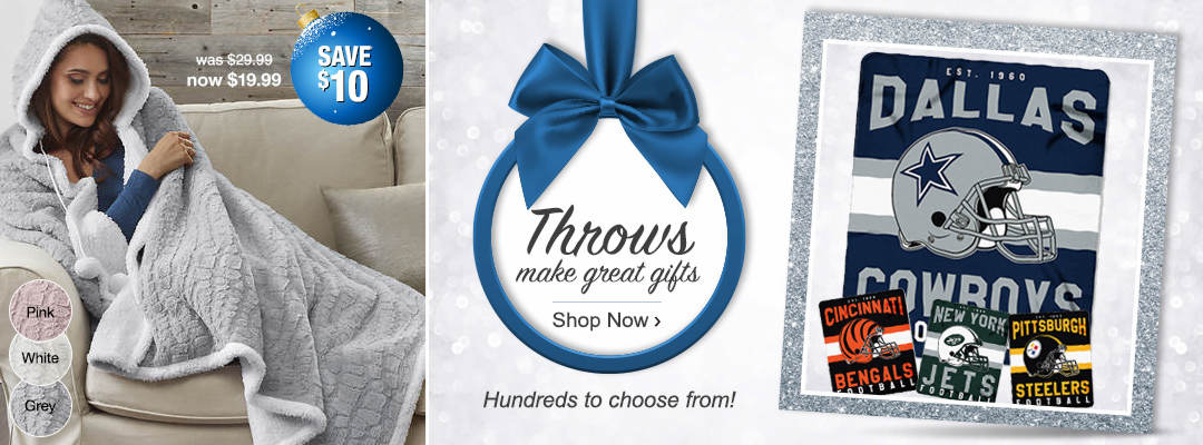 Throws make great gifts. Hundreds of styles to choose from.