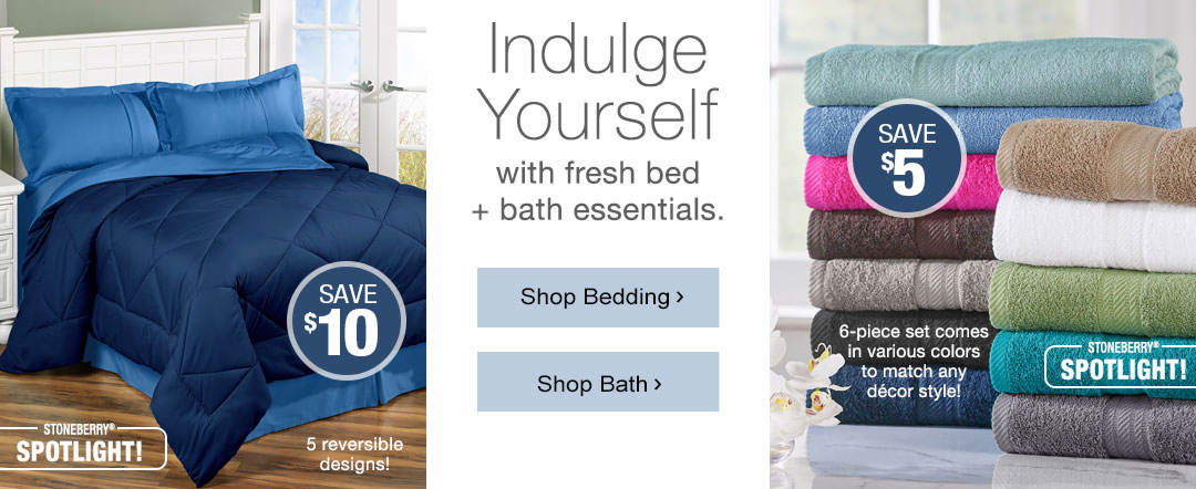 Get guest ready with lower prices on your favorite bed and bath essentials.