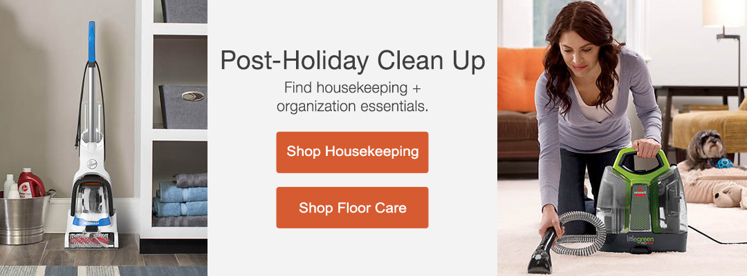 Less Mess equals Less Stress. Find housekeeping + organization essentails. Shop now.