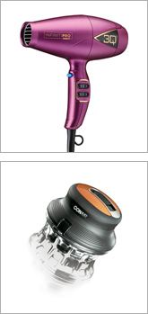 Picture of hair dryer and hair clipper.